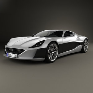3D rimac concept 2016 model
