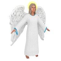 3D model christian angel