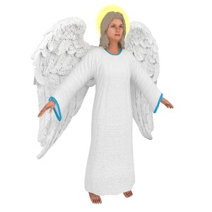 3D model christian angel