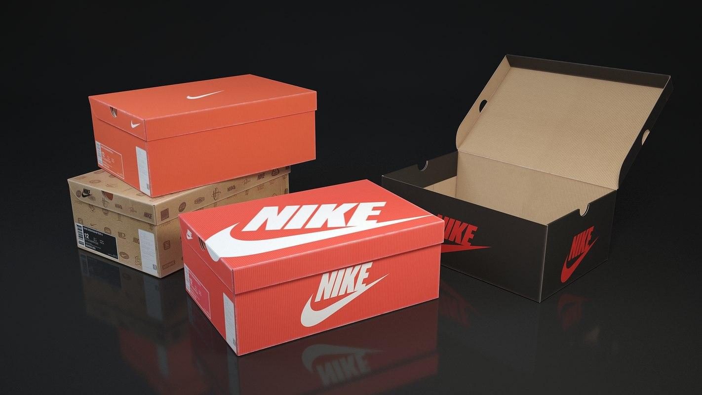 shoe box nike 3D model