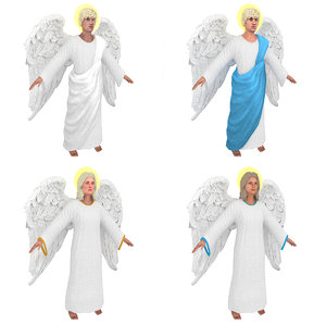 male female angels 3D model