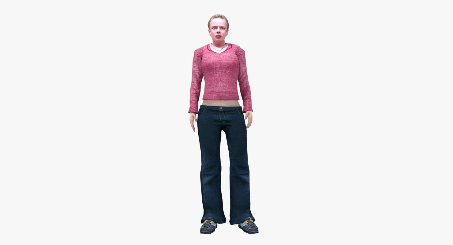 female animations model