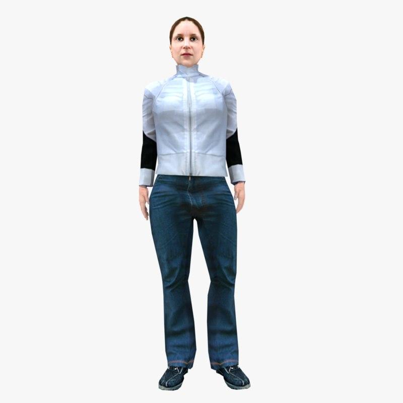 female animations 3D model