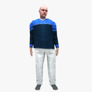 3D male animations model