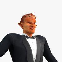 demon animation rigged biped 3D model