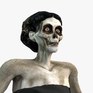 dark animation rigged character model