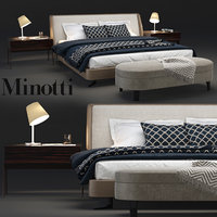 3D model minotti spencer bedroom set