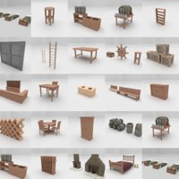 +20 Forniture Collection |LOW POLY|