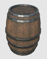 wood barrel 3D model