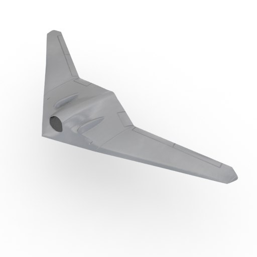 rq 170 stealth drone 3D model