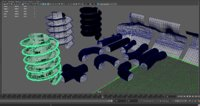 tuneles set tunnels 3D model