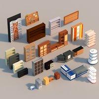 interior cupboards 3D