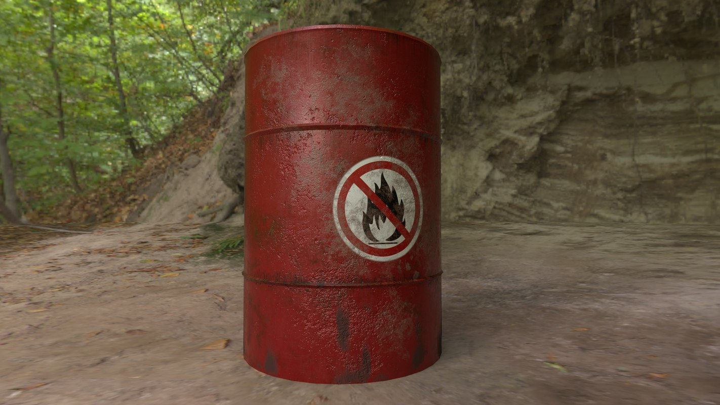 ready metal barrel 3D