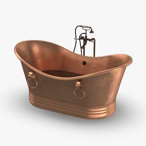 3D model contemporry-bathtub---half-full-faucet-off