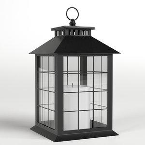 decorative lantern candle 2 3D