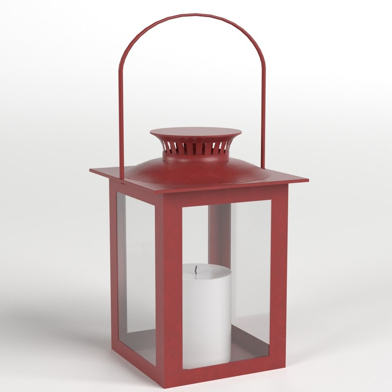 3D model decorative lantern candle
