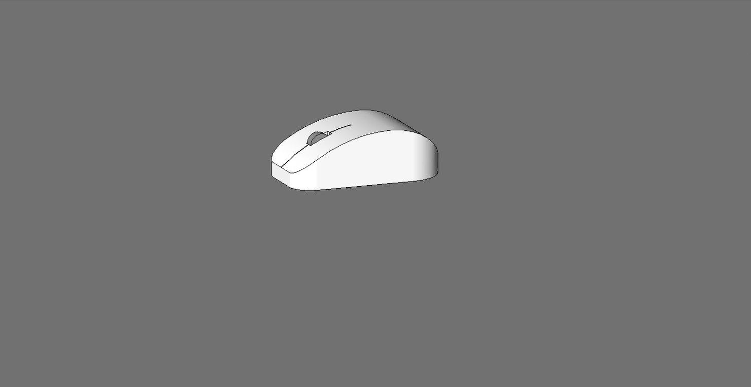 3D simple computer mouse