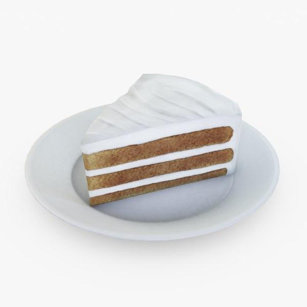 cake slice cream 3D model