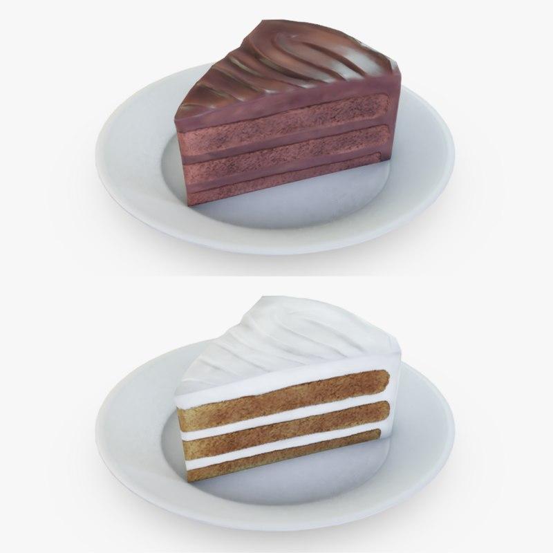 3D slices cake model