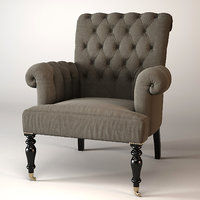 armchair hurley eichholtz 3D model