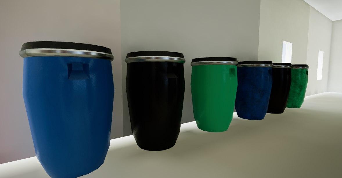 3D ready plastic barrel