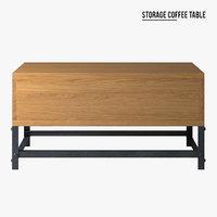 savoy storage coffee table 3D