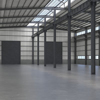 warehouse interior 3D