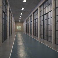 Interior Prison Corridor 3D Model