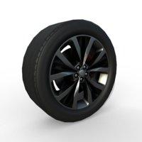 3D model rim car wheel suv