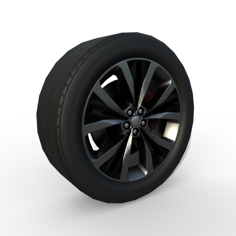 3D model rim car wheel suv