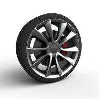 3D rim car wheel model