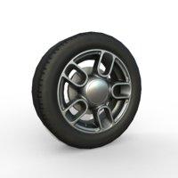 inch car wheel 3D model