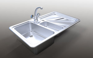 sink mutfak evye 3D model