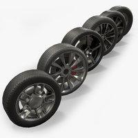 3D colection car wheels model