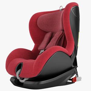 3D model children car chair