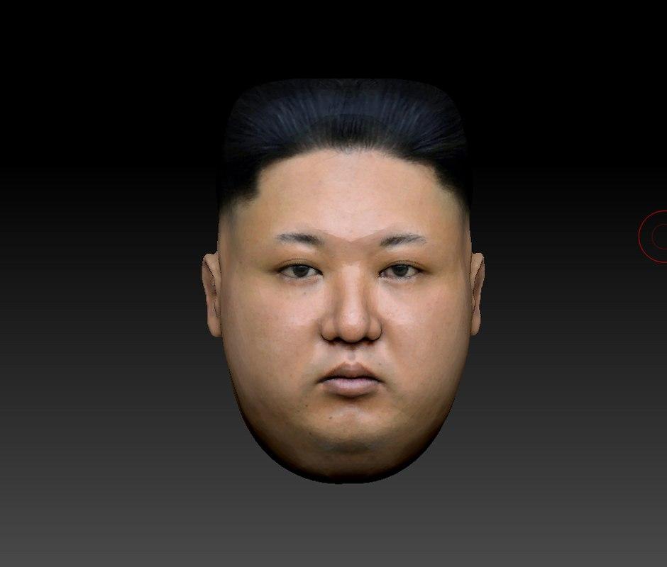 3D kim-2 head model