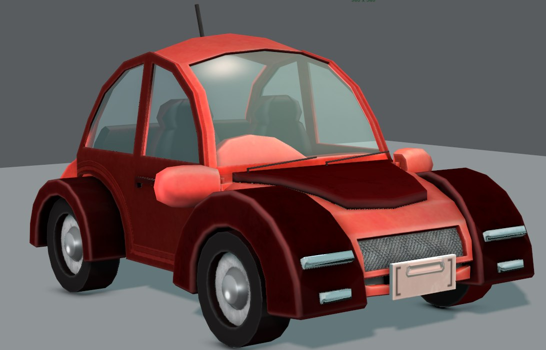 3D car cartoon toon model