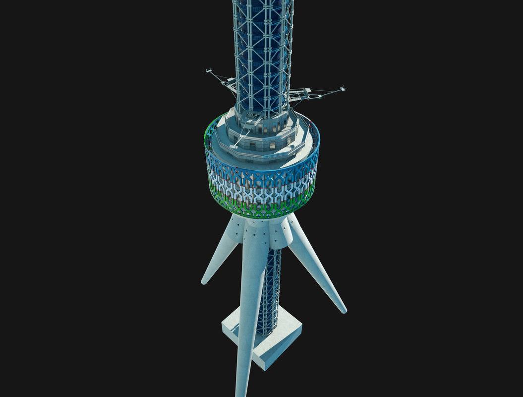 tashkent tv tower 3D model