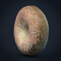 sesame bagel 3D