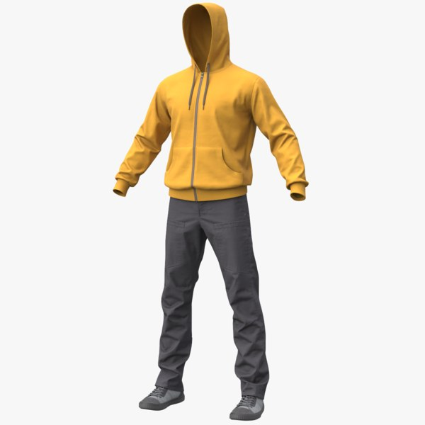 3D realistic men s clothes model