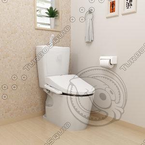 smart toilet japan 3D model