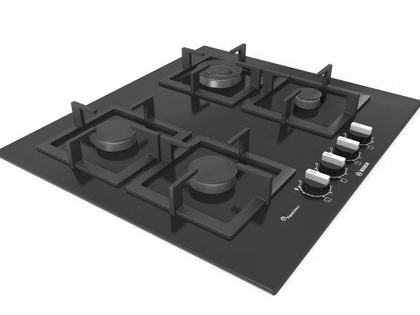 3D kitchen cooktop model