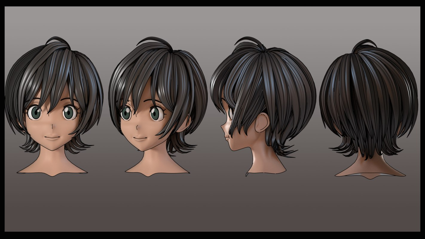 Hair Style 3d Image