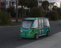 3D driverless shuttle bus navya model