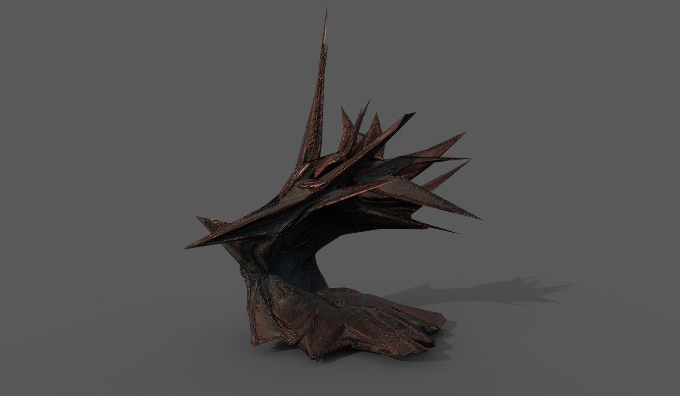 alien rocks 3D model