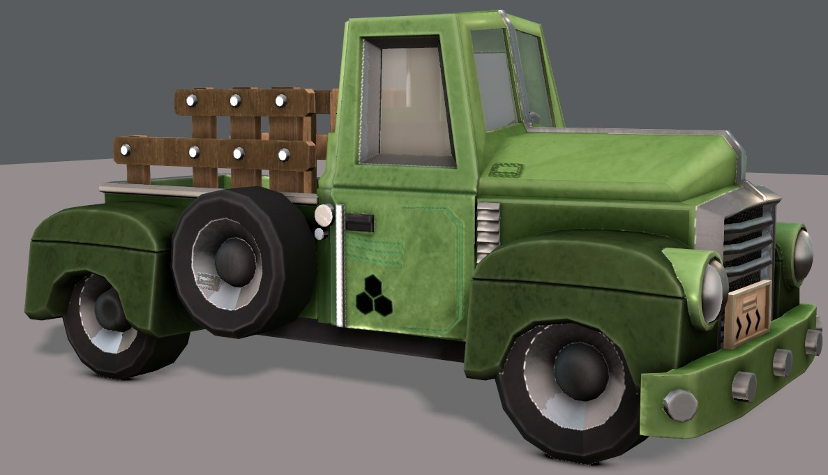 3D model car cartoon toon