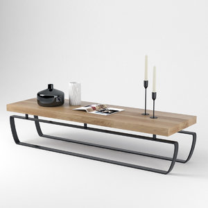 sofa table saint moritz 3D model