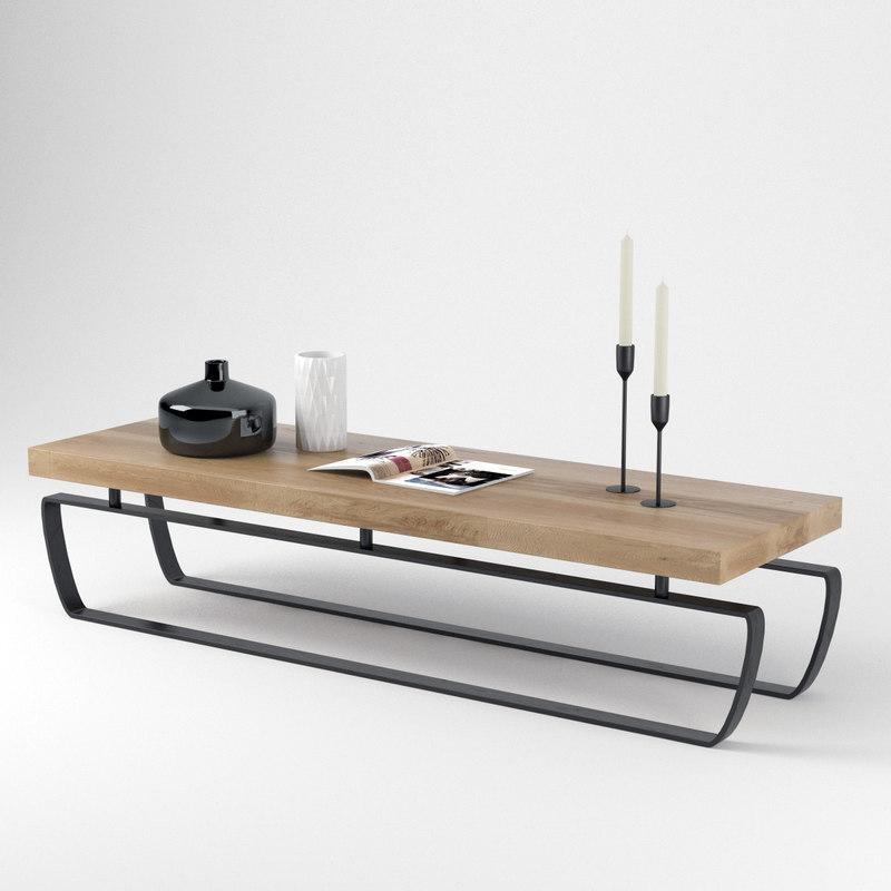 sofa table saint moritz 3D model