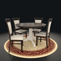3D dining table chare