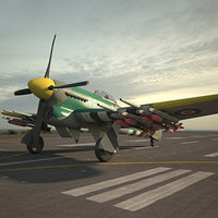 3D model hawker typhoon